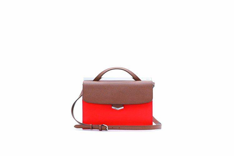 雙色咖啡拼橘,DemiJours側背包,61,000元。圖/FENDI提供