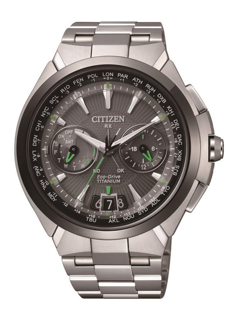 金城武代言CITIZEN表廣告中配戴的表款,Eco-Drive光動能衛星對時腕表...