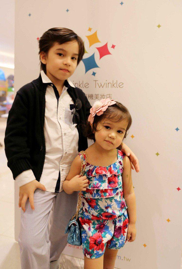 網路上爆紅台葡混血小兄妹Titi(右)& Lya,擔任TWINKLE TWINK...