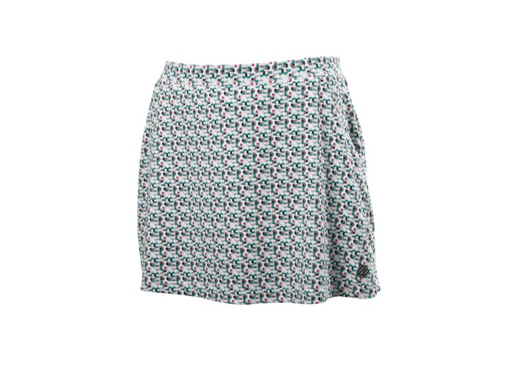 印花圖專業網球裙 售價1,580元。圖/K-SWISS提供