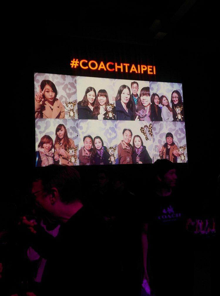派對現場COACH x Baseman 創意拍照體驗。記者吳曉涵/攝影