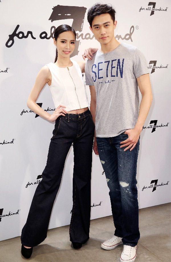 7 For All Mankind舉行牛仔褲新品發表會,展示春夏流行新裝。記者徐...