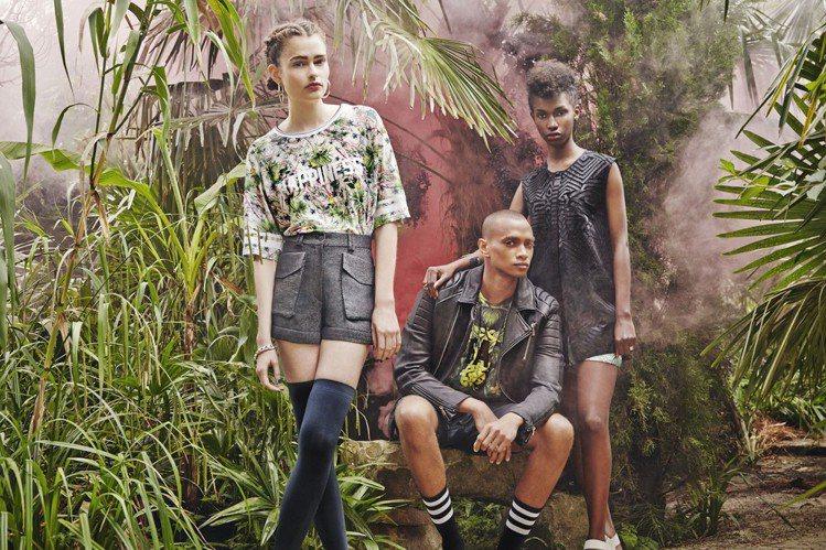 2015 春夏系列更以南非為靈感,融入狂野圖騰、都會元素與繽紛大膽的色彩。圖/E...