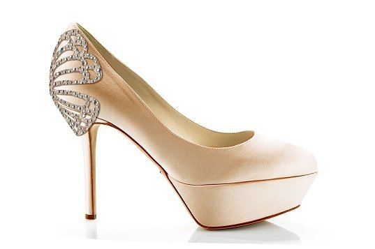 Sergio Rossi Bridal Collection 新娘系列 香檳粉緞...