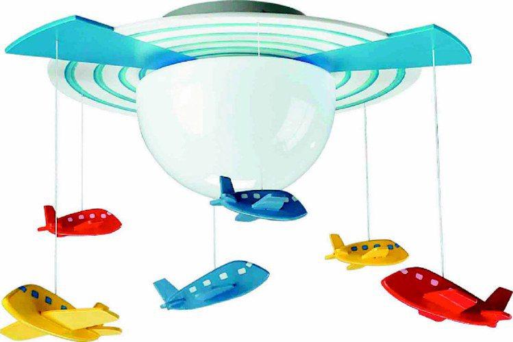 飛利浦遨遊世界吸頂燈在睡夢中帶幼童穿越時空,1,580元。圖/飛利浦提供