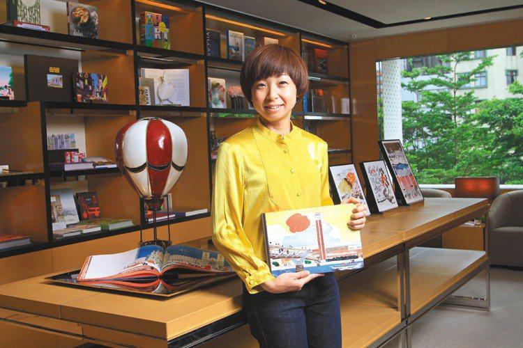 日本年輕插畫家NatskoSeki透過照片與繪畫拼貼的方式,畫出一幅幅她眼中的倫...
