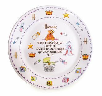 Harrods「皇室寶寶限定紀念瓷器」。圖/Harrods提供