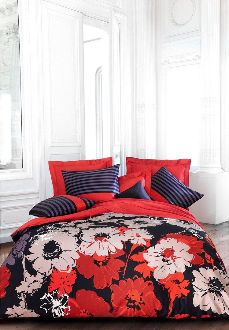 法國品牌Sonia–Rykiel今年秋天推出的Bouquet–Rouge床組。圖...
