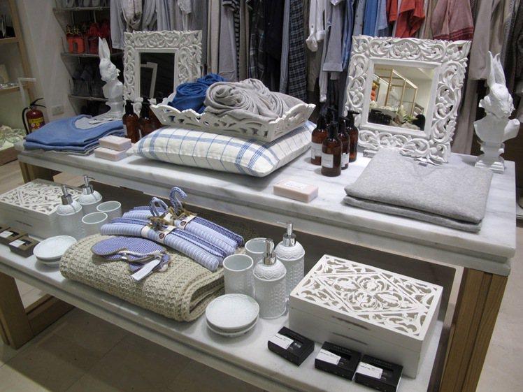 居家休閒服裝與用品。記者吳曉涵/攝影