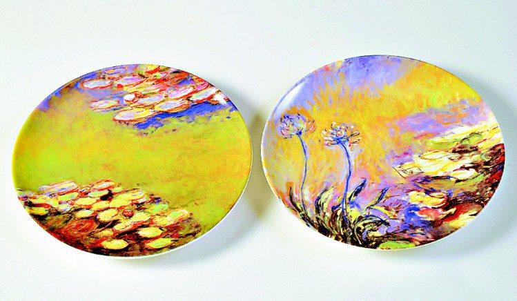 莫內與LANVIN聯名紀念圓盤,1,280元起。圖/莫內展提供