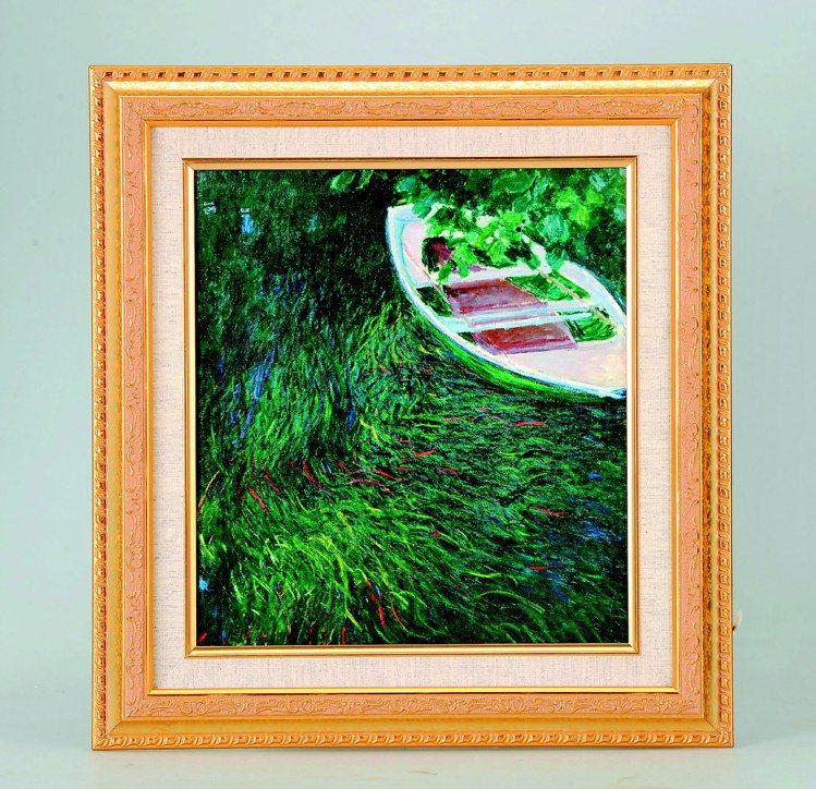 莫內展複製畫「小舟」,售價3,600元起。圖/莫內展提供