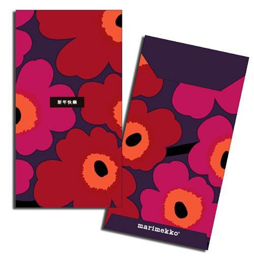 marimekko繽紛圖樣紅包。圖/marimekko提供