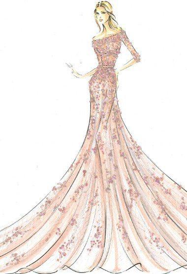 穿著粉紅色Elie Saab禮服的睡美人。圖/擷取自mamamia.com