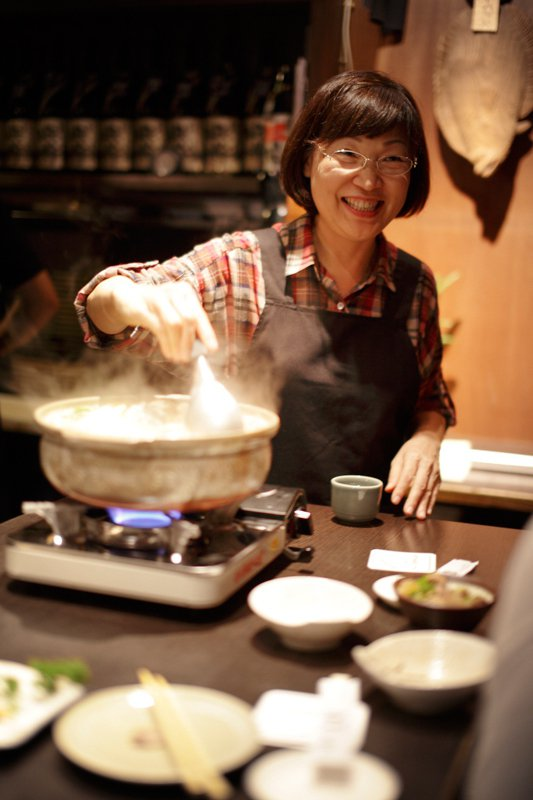 來店必點的味噌鮭魚石狩鍋是見上勝俊的兒時記憶。圖/Wow!LaVie