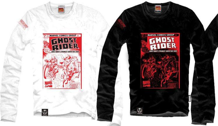 贈品之1:Marvel Ghost Rider 限量長袖T恤 。圖/威視電影...