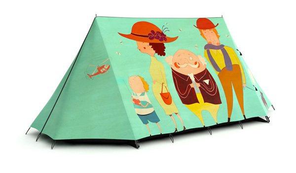 圖案有趣的帳篷創造連視覺都充滿笑意的舒緩之旅。圖/Wow!La Vie提供