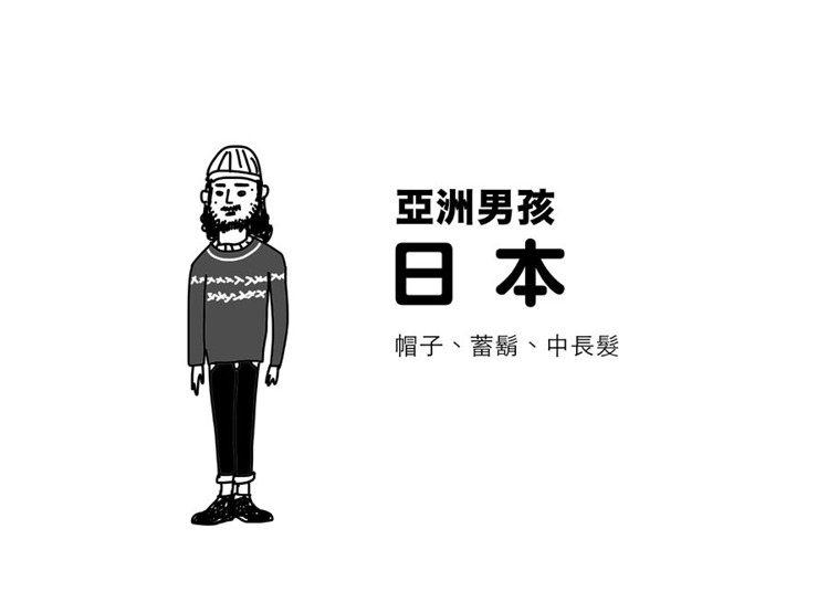 4.日本:不少日本男生對於鬍子與帽子都有重度迷戀的症狀。古著混搭風還是街頭最常見...