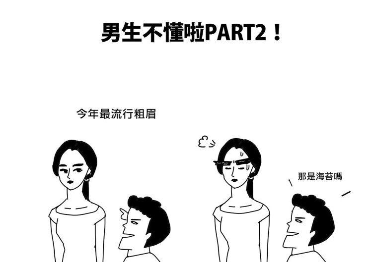 4.當紅粗眉。圖/Cherng繪