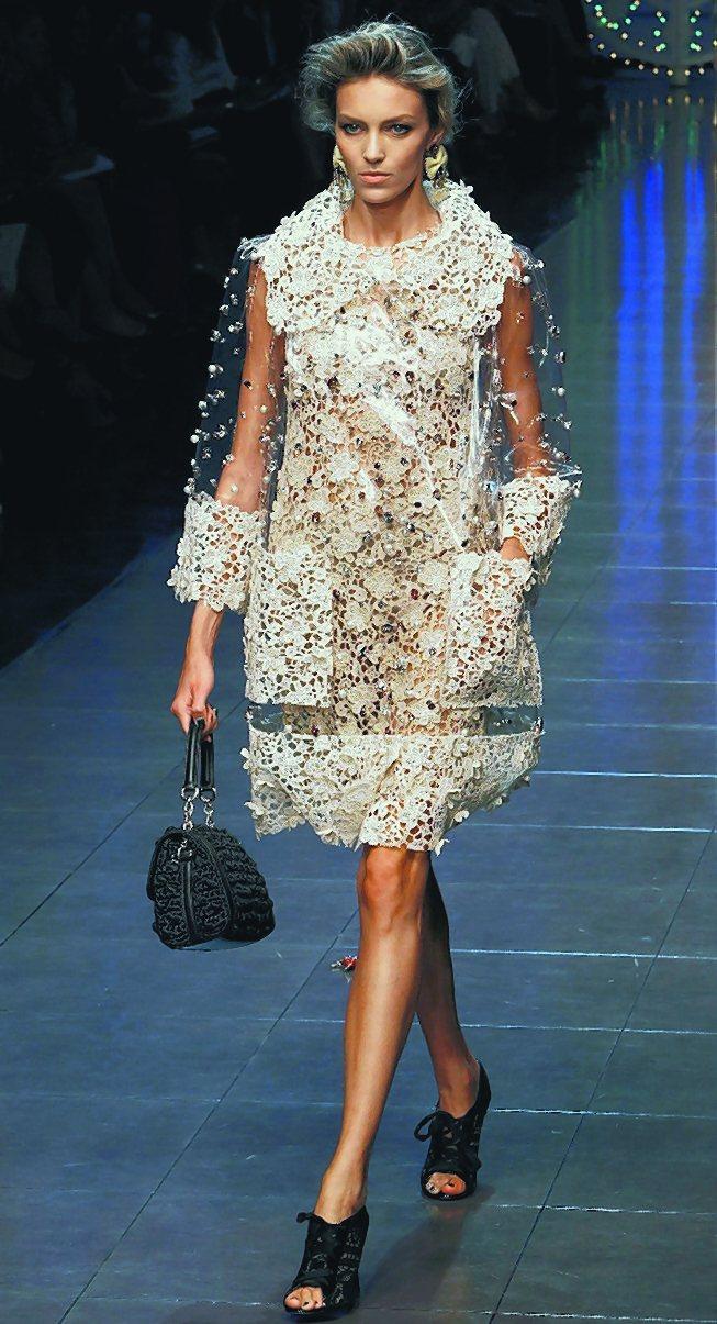 Dolce & Gabbana的洋裝天真浪漫。圖/路透