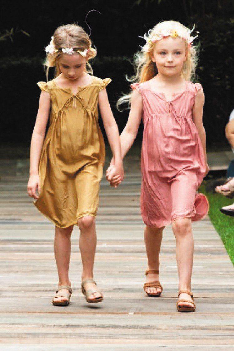 Bonpoint春夏演繹復古十足法式時尚童裝。圖/Bonpoint提供
