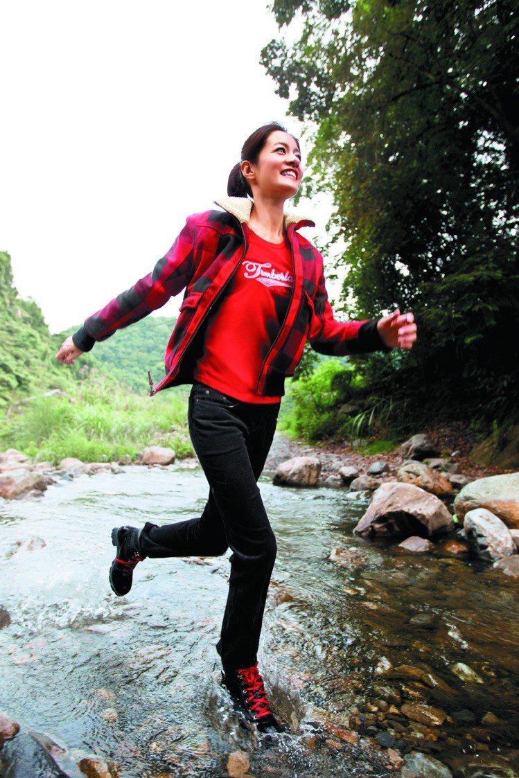 Timberland Thermotech服飾比一般鋪棉外套保暖度增加30%。圖...