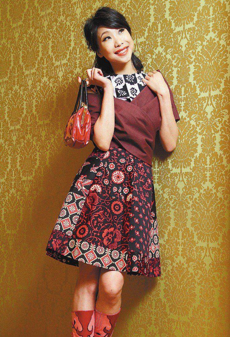 MIU MIU發表春夏新裝邀請胡婷婷擔任嘉賓。記者陳俊吉/攝影