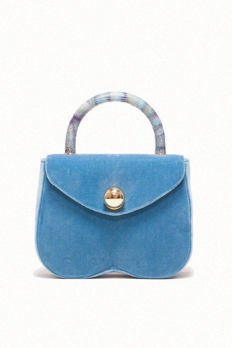 MIU MIU春夏土耳其藍手提包、33,500元。圖/MIU MIU提供