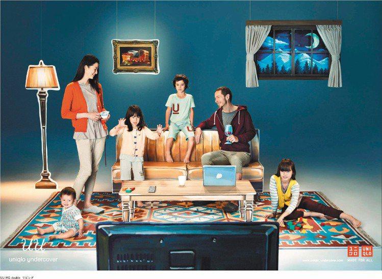UNIQLO與UNDERCOVER設計師高橋盾聯名的「uu」系列全球同步開賣。圖...