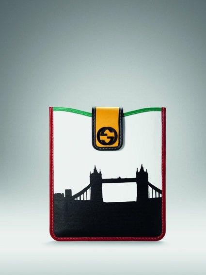 GUCCI 倫敦奧運限量 The City Collection皮革滾邊iPad...