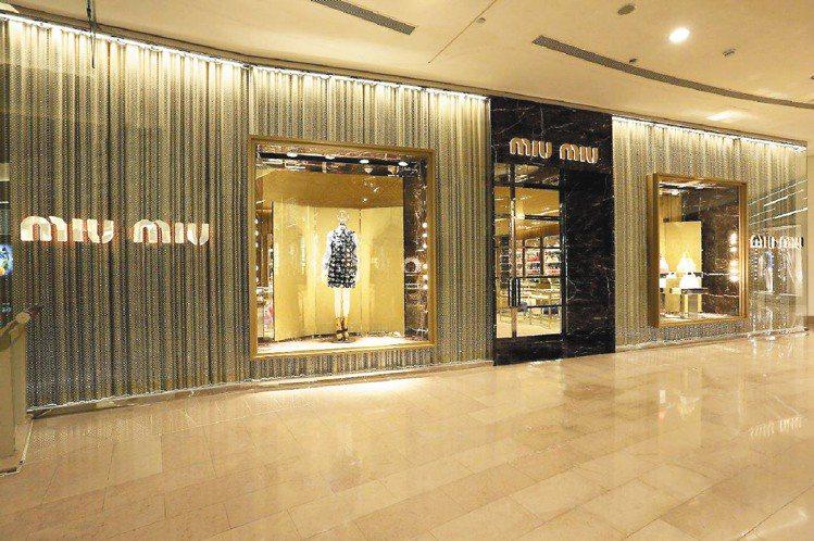 miu miu在台北101的4、5樓開設亞洲最大旗艦店。圖/miu miu提供