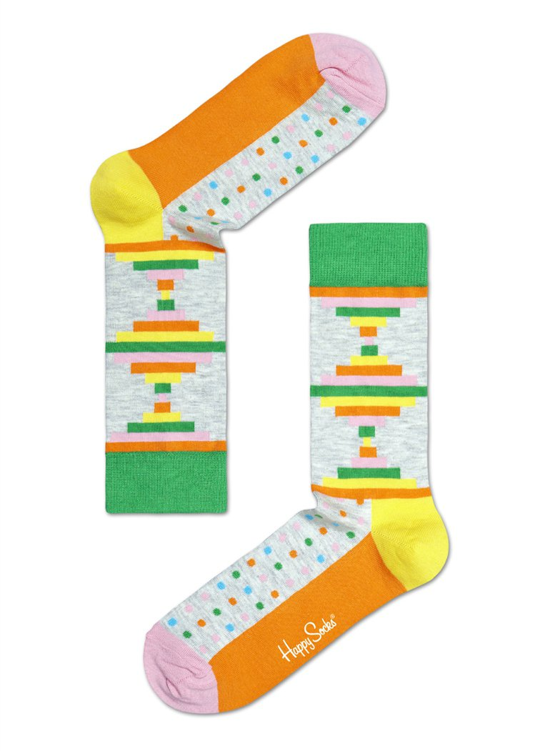 HAPPY SOCKS將圓點、線條與幾何等設計融入襪品,增加流行度。圖/HAPP...