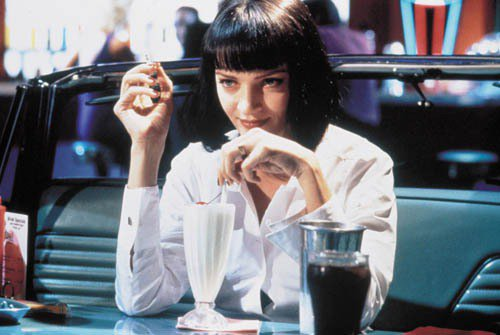 少女們也來點正式感吧!鄔瑪舒曼在電影《黑色追緝令》穿的白襯衫透出淡淡的性感卻又正...