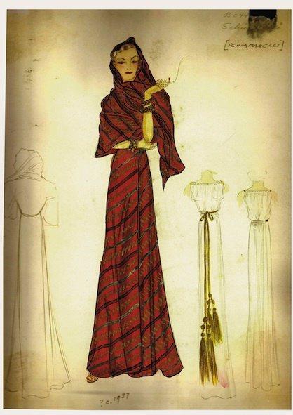 薛帕瑞麗的手繪圖稿。圖/Schiaparelli提供
