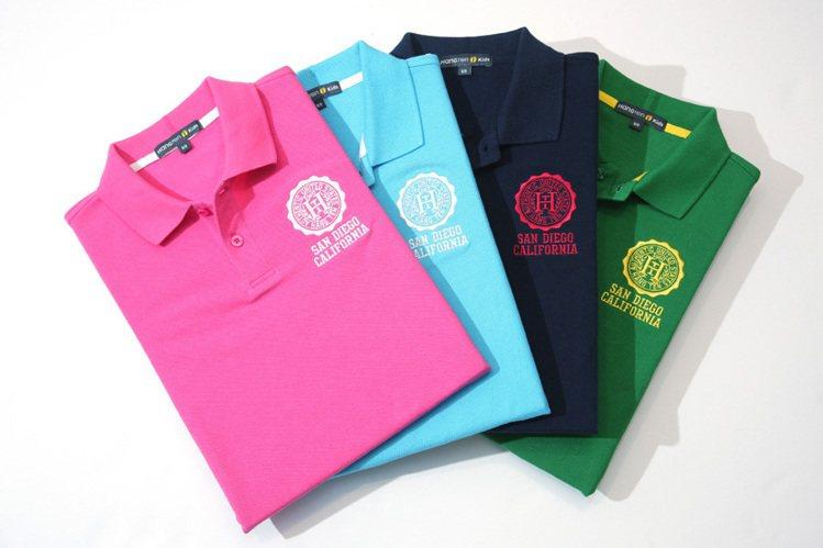 Hang Ten POLO衫本季主打多彩色調。圖/Hang Ten提供