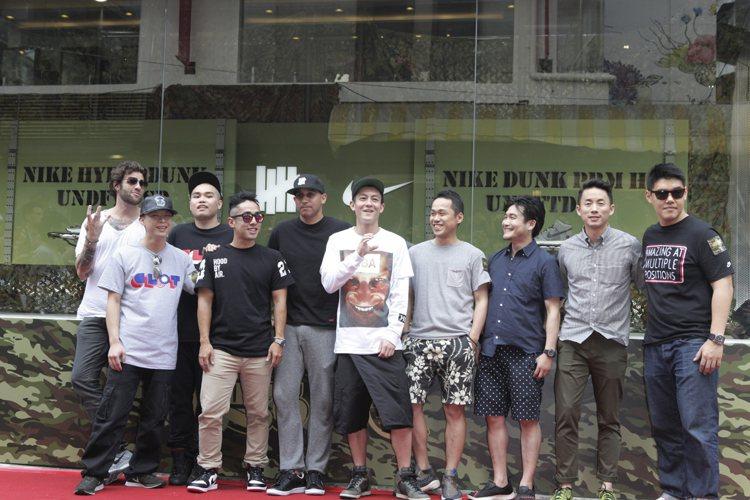品牌主理人陳冠希、潘世亨與多為好友共同歡慶開幕。圖/JUICE TAIPEI提供