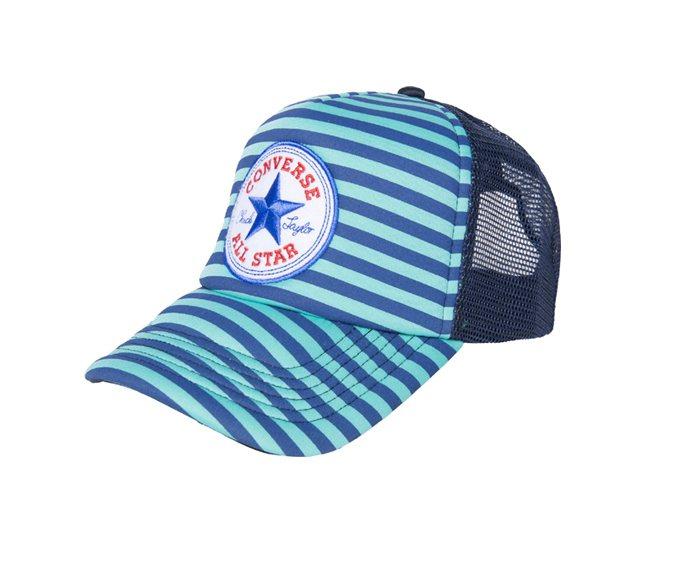 條紋藍休閒網帽,定價790元。圖/CONVERSE提供