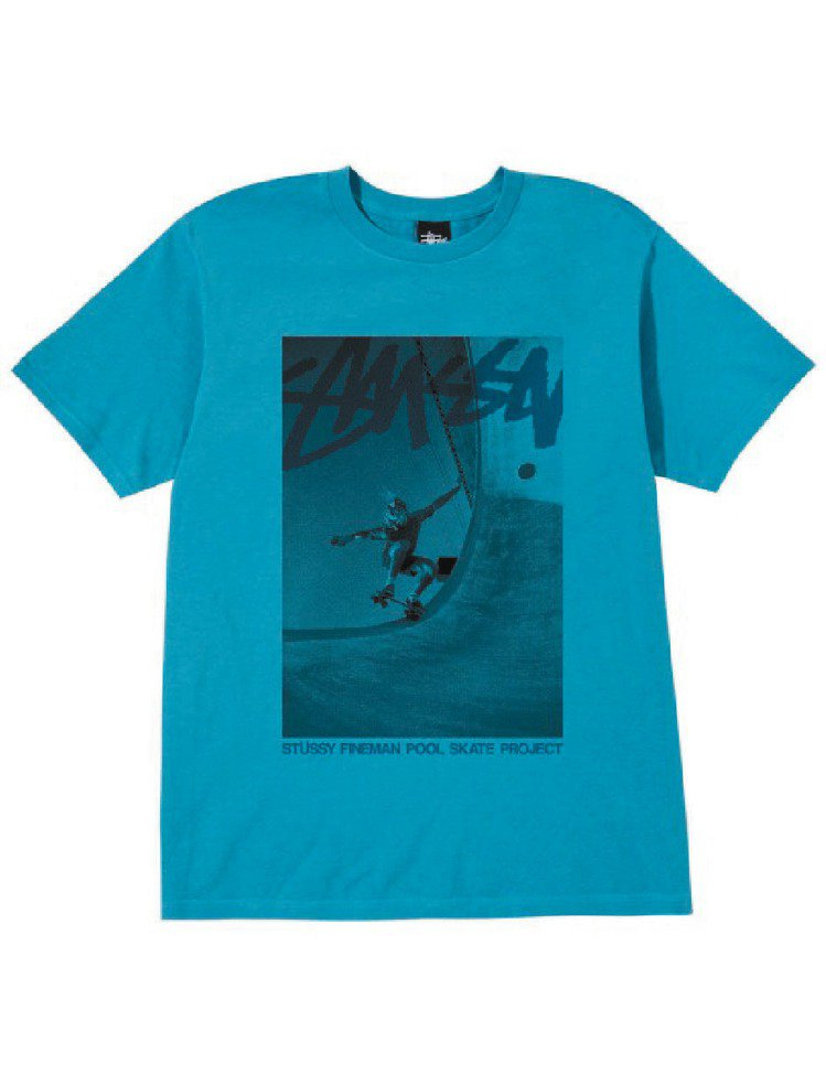 Stussy以攝影大師Craig Fineman的作品推出聯名T恤。圖/摘自St...