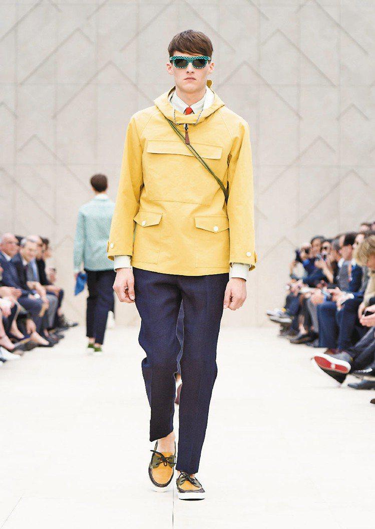 Burberry2014春夏男裝「色」計超搶眼。圖/Burberry提供