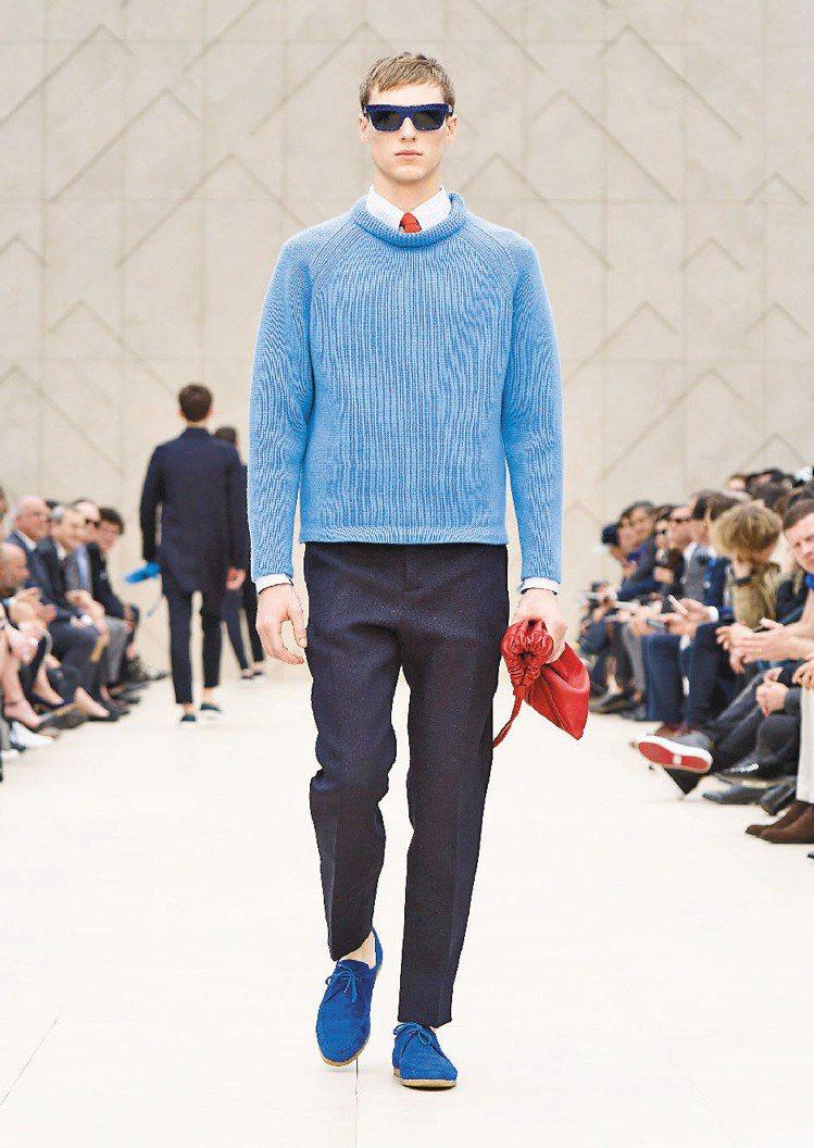 亮眼是Burberry2014春夏男裝的特色。圖/Burberry提供