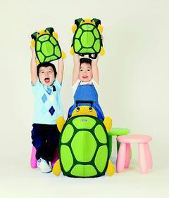 Samsonite Sammies孩童系列俏烏龜箱包。圖/Samsonite