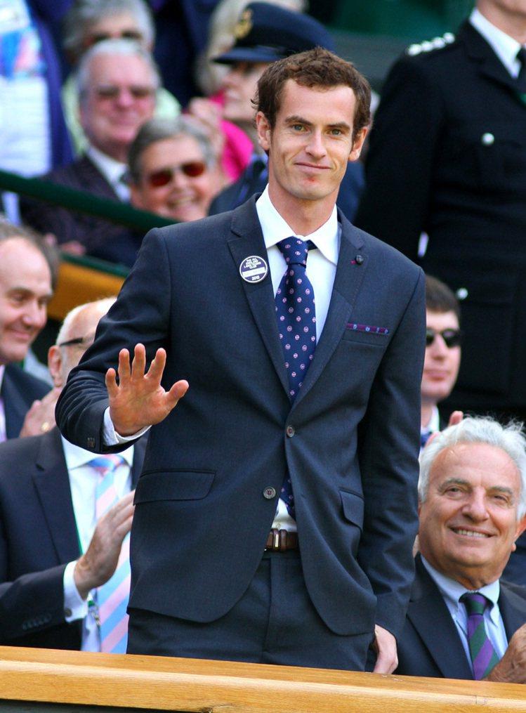 Ted Baker贊助網球選手墨瑞西裝。圖/Ted Baker提供
