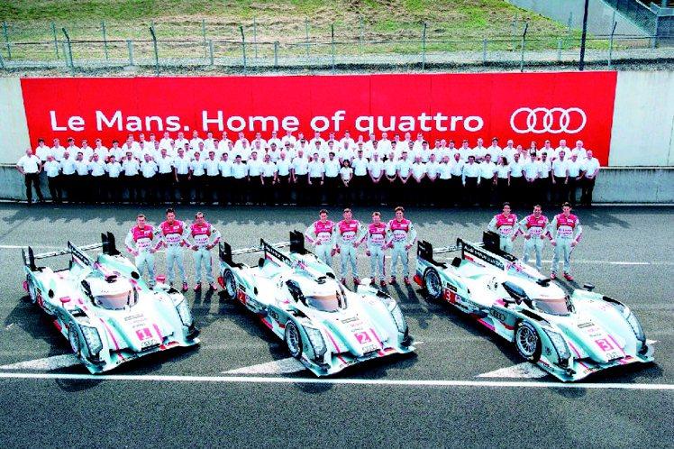 R18 e-tron quattro柴油電力複合動力賽車在利曼24小時大賽奪冠。...