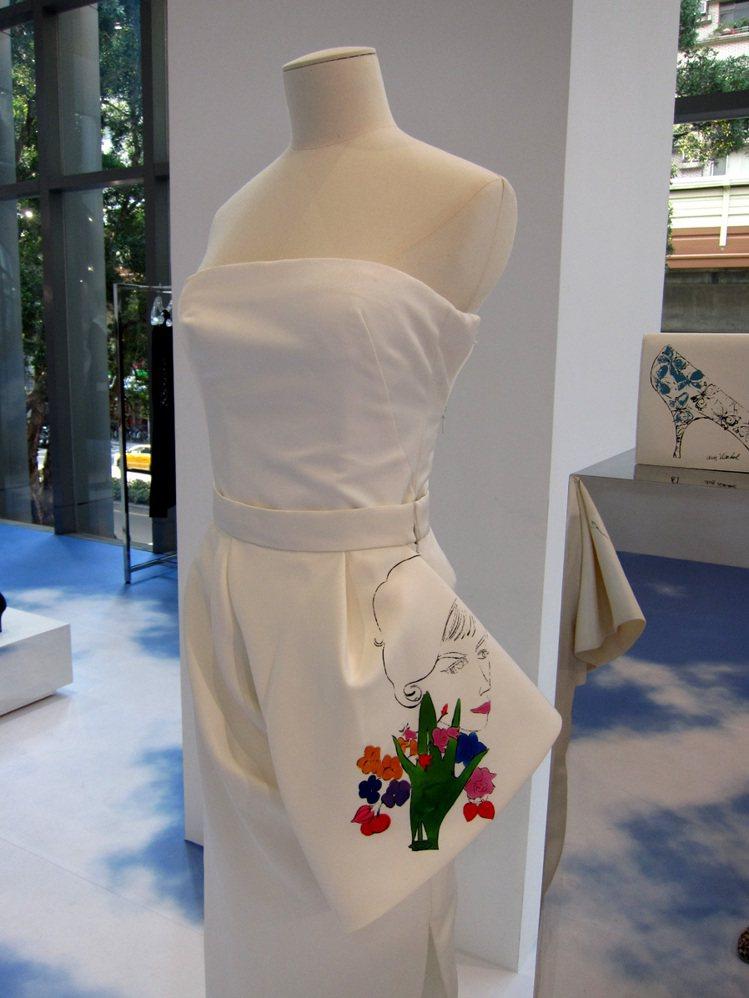 Dior 與普普藝術家安迪沃荷合作,Raf Simons 將其未曝光的畫作運用在...