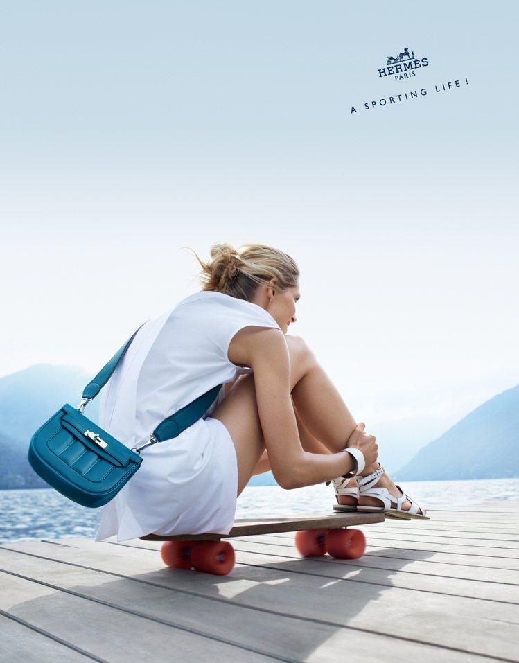 愛馬仕本季廣告主題「韻動人生」,倡導運動時尚。圖/Hermes提供