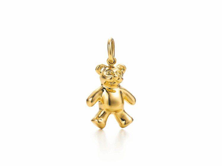 Tiffany Teddy Bear 18K金吊飾,41,500元。圖/Tiff...
