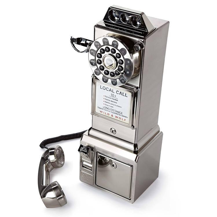 ARTIFACTS DINER Phone 1950年美式三投幣孔復古電話很適合...