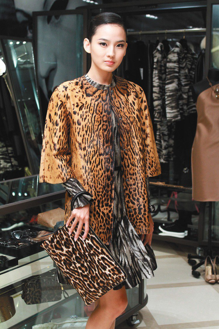 LANVIN女裝,詮釋充滿野性的奢華時尚。記者陳柏亨/攝影