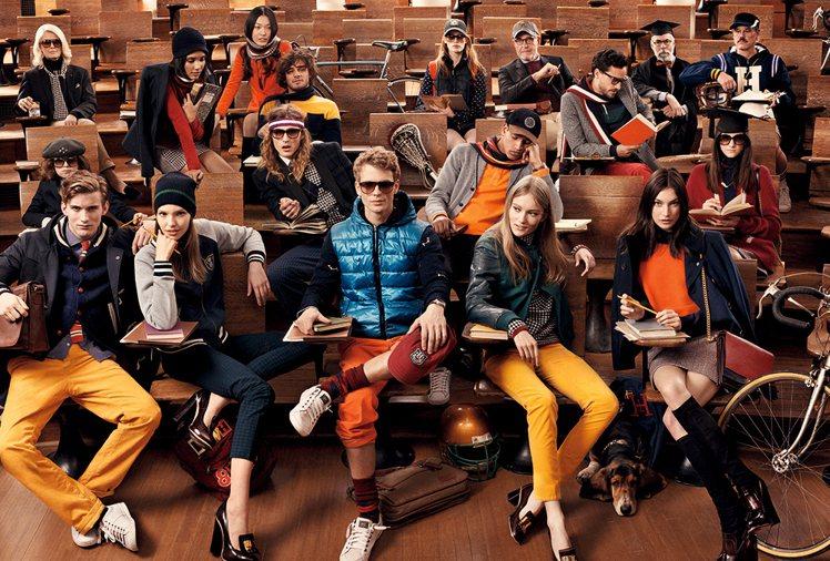 Tommy Hilfiger秋冬在學院風中加入鮮艷色彩畫龍點睛。圖/Tommy ...