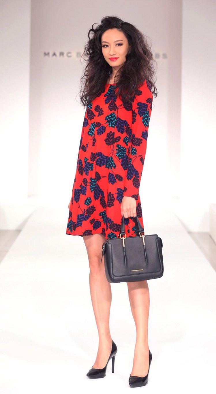 名模邱馨惠展示MARC BY MARC JACOBS秋冬時尚。記者陳立凱/攝影