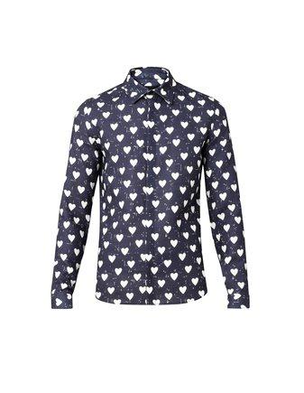 男裝愛心襯衫。圖/BURBERRY提供